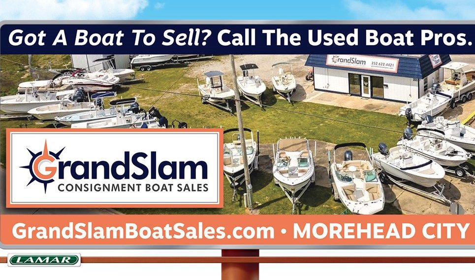 grand slam boat sales billboard ad